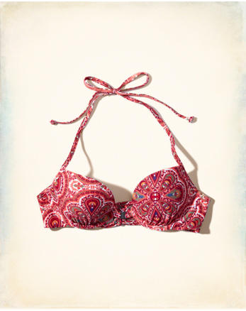 hol Lightly Lined Plunge Bikini Top