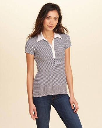 Slim Stretch Stripe Polo