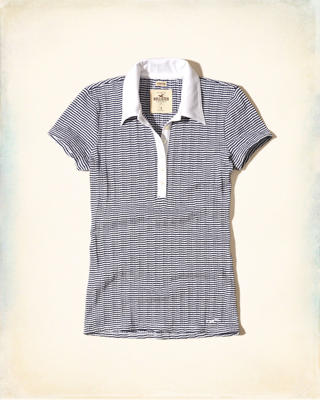 Stretch Stripe Pocket Polo