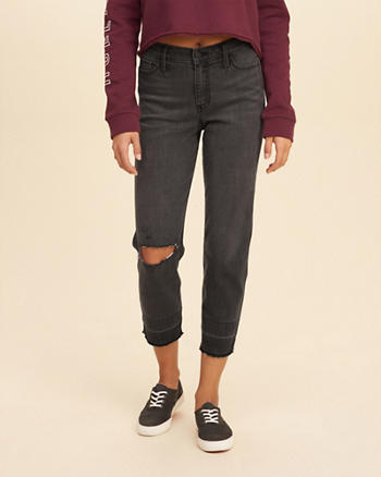 High-Rise Slim Boyfriend Jeans