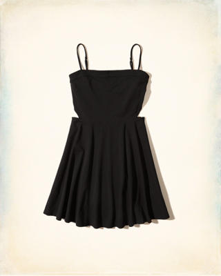 Cutout Knit Skater Dress