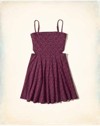 hol Cutout Knit Skater Dress