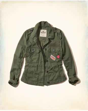 hol Military Patchwork Shirt Jacket