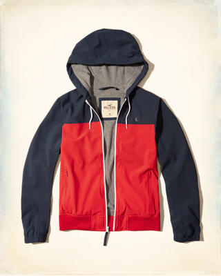 Jersey Lined Nylon Windbreaker