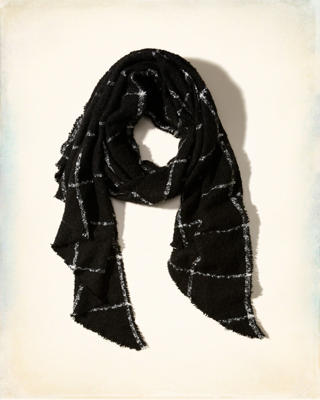 Patterned Boucle Scarf