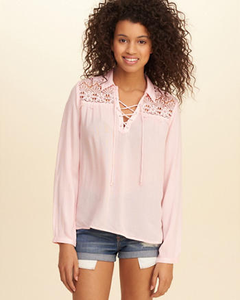 Easy Lace-Up Shirt