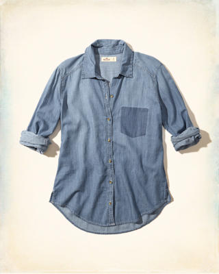 Shadow Pocket Chambray Shirt