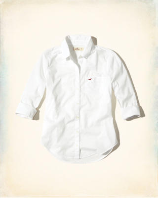 Button-Front Cotton Shirt