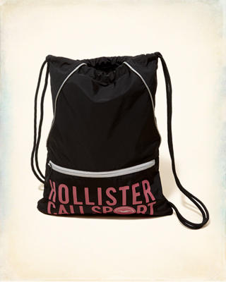 Graphic Nylon Drawstring Bag