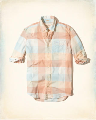 Patterned Stretch Poplin Shirt