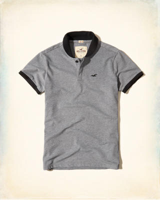 Rolled Collar Pique Polo