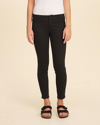 Low-Rise Crop Super Skinny Pants