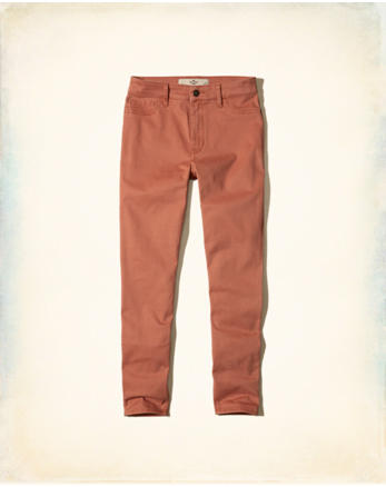 hol High-Rise Crop Super Skinny Pants