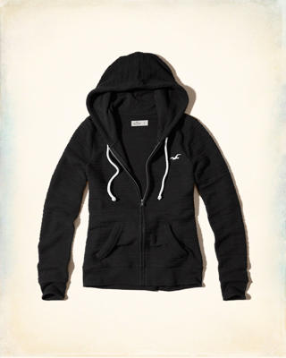 Full-Zip Boucle Icon Hoodie