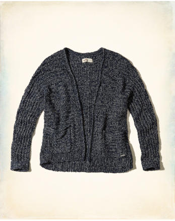 hol Textured Non-Closure Cardigan