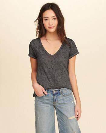 Must-Have Burnout V-Neck T-Shirt