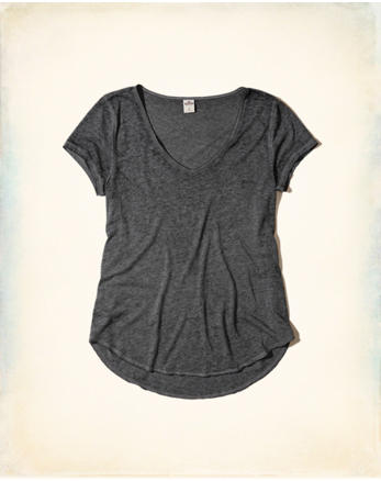 hol Must-Have Burnout V-Neck T-Shirt