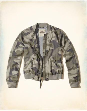 hol Camo Twill Bomber Jacket