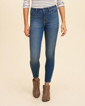 Hollister High-Rise Crop Jean Leggings