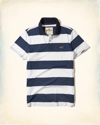 Stripe Jersey Icon Polo