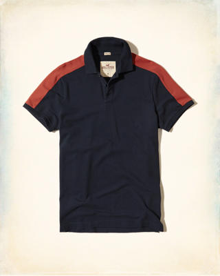 Stretch Colorblock Pique Polo