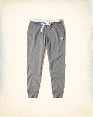 Hollister Logo Elastic Graphic Joggers