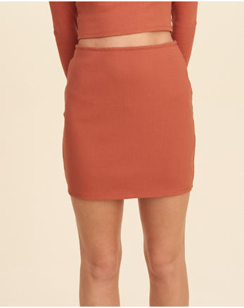 hol Ribbed Knit Bodycon Skirt