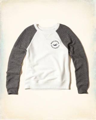 Reverse Terry Graphic Crew Sweatshirt