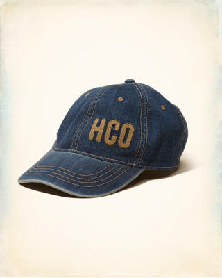 Embroidered Logo Graphic Denim Hat