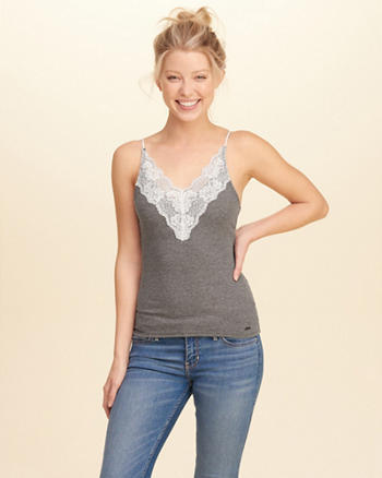 Lace-Trim Slim Cami