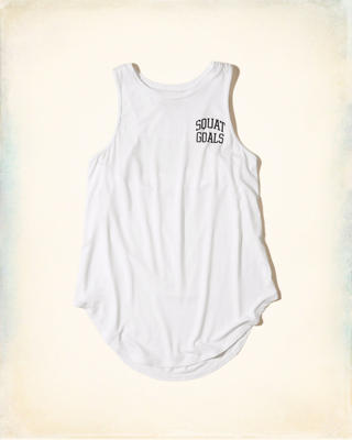 Open Back Graphic Tank