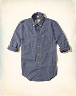 Stretch Check Oxford Shirt