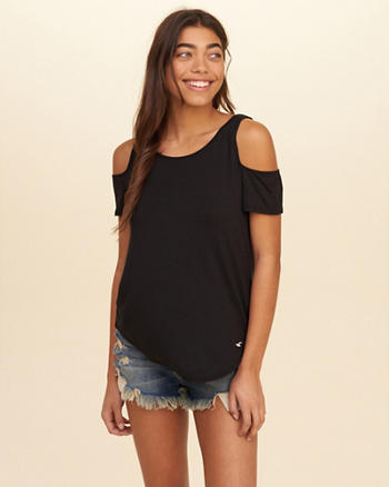 Must-Have Easy Cold Shoulder T-Shirt