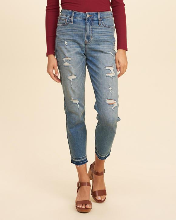girls hollister highrise boyfriend jeans girls bottoms