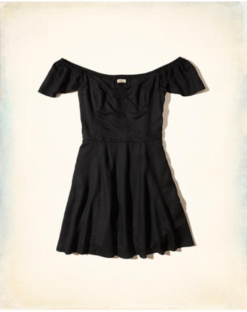 hol On Or Off The Shoulder Skater Dress