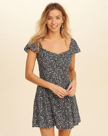 On Or Off The Shoulder Skater Dress