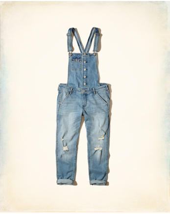 hol Stretch Denim Boyfriend Overalls