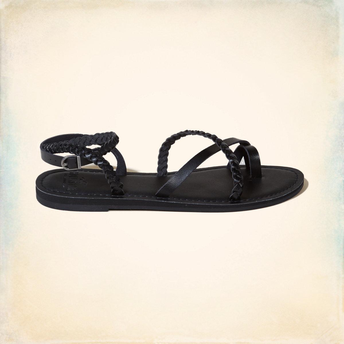 Vegan Leather Braided Metallic Sandal
