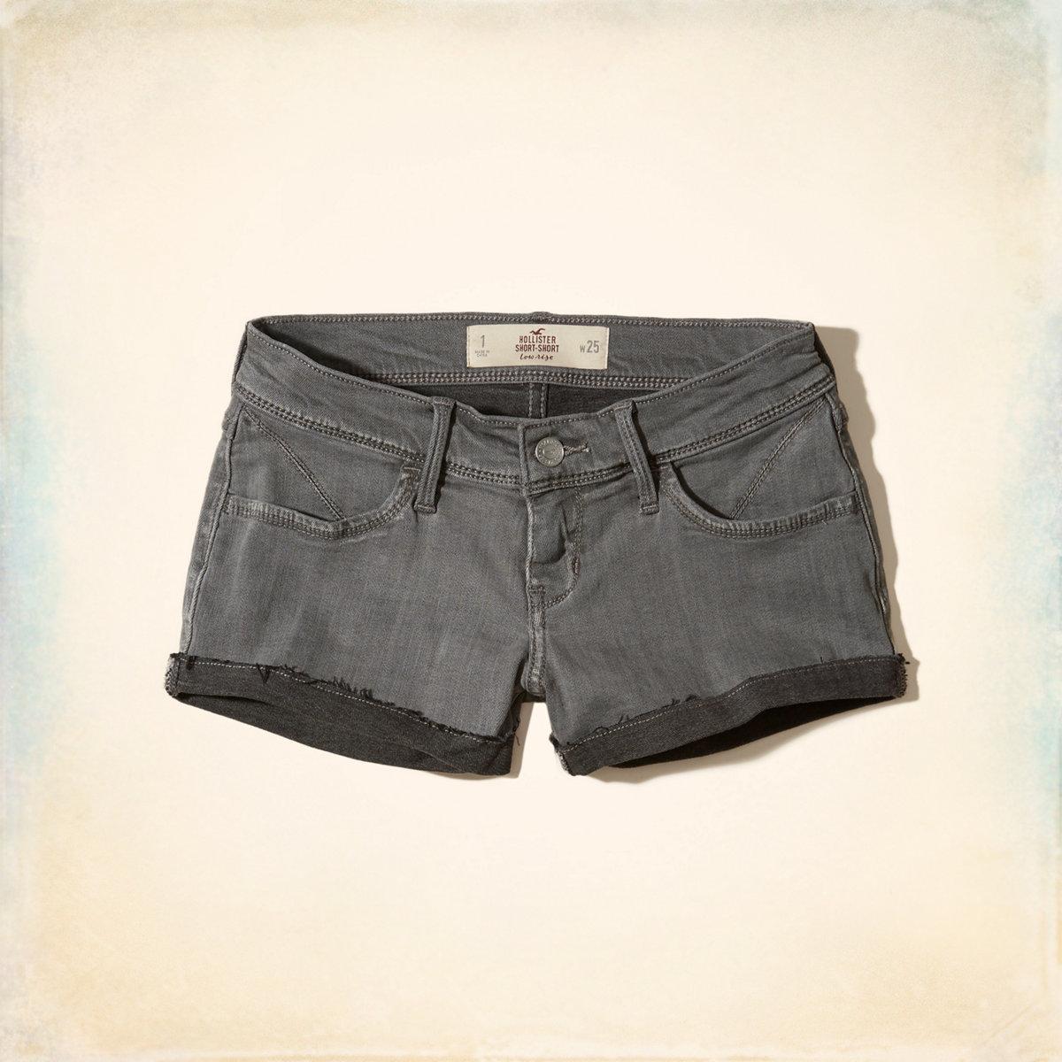 Low-Rise Denim Short-Shorts