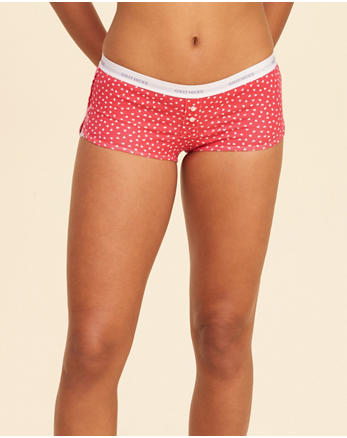 hol Patterned Knit Shortie Short