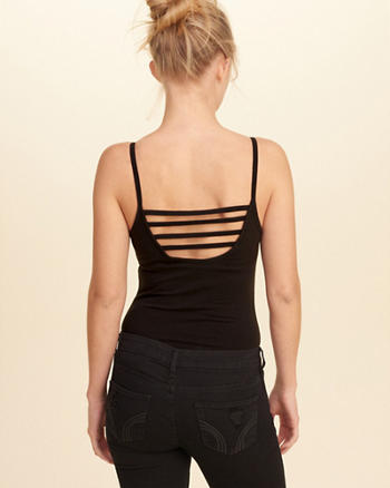 Strappy Back V-Neck Bodysuit