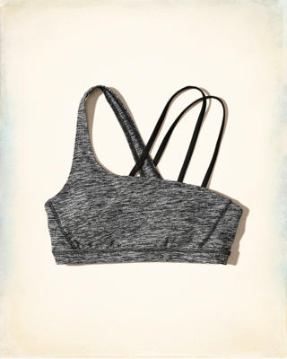 Asymmetrical Cross-Back Sports Bra