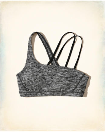 hol Asymmetrical Cross-Back Sports Bra