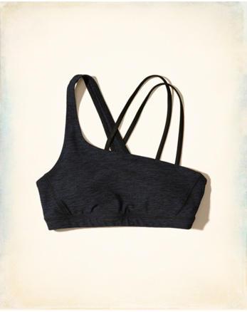 hol Asymmetrical Cross-Back Sports Bra