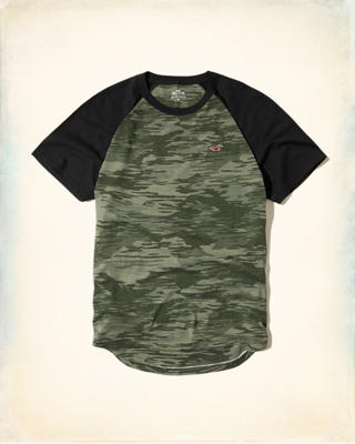 Must-Have Camo Colorblock Raglan T-Shirt