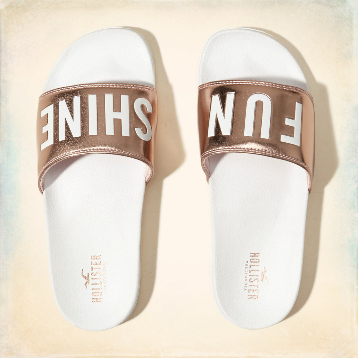 Graphic Slide Sandals