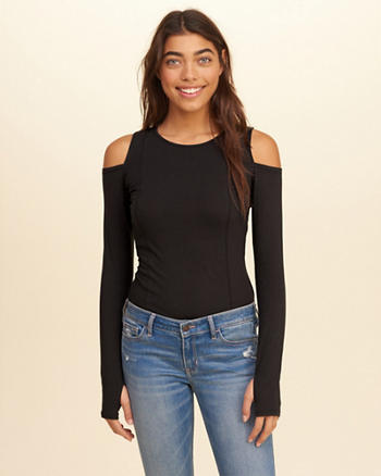 Slim Cold Shoulder Top