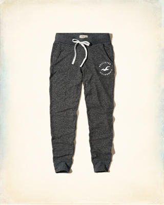Textured Logo Graphic Fleece Joggers