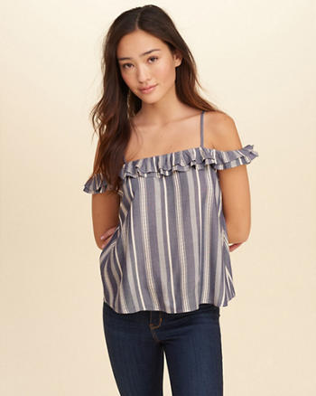 Ruffle Cold Shoulder Cami