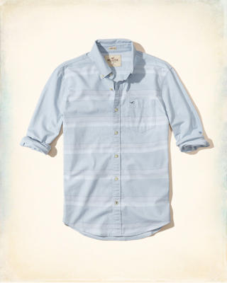 Stretch Stripe Oxford Shirt